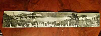 "Hong Kong Happy Valley Race Course Panorama 4 fold 22.25"" L PostCard #19 UNUSED"