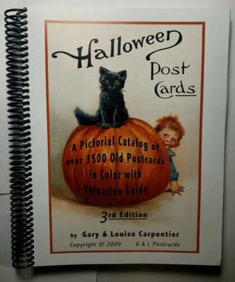 Vintage Halloween Pictoral Postcard Catalog Gary & Louise Carpentier