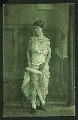 German 1915 TATTOOED Lady MAUD ARIZONA Circus Sideshow TATTOO ~ VASTA Archive