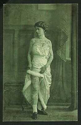 German 1915 TATTOOED Lady MAUD ARIZONA Circus Sideshow TATTOO ~ VASTA Archive