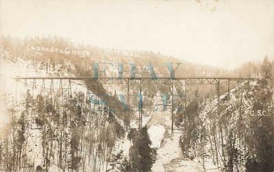 RPPC: Buffalo & Susquehanna Railway Caneadea NY Gorge Trestle Unposted