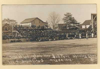 Baseball Stadium Opening Day Boyne City v. Ludington, MI Minor League 1912 RPPC