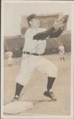 Cleveland Indians Team Issued Real Photo Postcard - Signed - George Stirnweiss