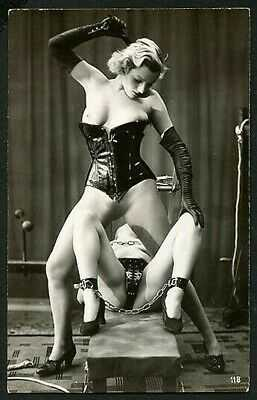 French 1930 Ostra Studio LESBIAN Fem/Dom FETISH Fashion Corset ~ VASTA Archives