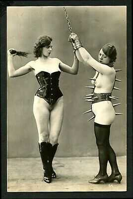 French 1930 Ostra Studio LESBIAN Fem/Dom FETISH Fashion SPIKES ~ VASTA Archives