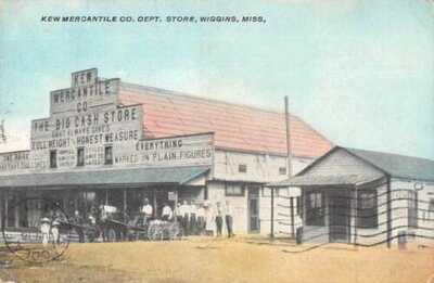 Wiggins Mississippi Kew Mercantile Co Department Store Vintage Postcard AA13378