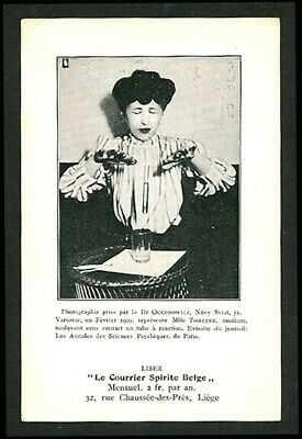 Belgian 1910 Surreal SPIRITISM Mlle Tomczyk Medium SEANCE Liege ~ VASTA Archive