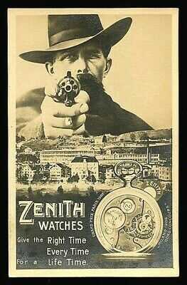 German 1910 Surreal ZENITH WATCHES Photomontage Advert REVOLVER ~ VASTA Archive