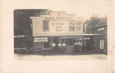 Pen Mar Pennsylvania Coffman's Restaurant Ice Cream Coke Real Photo PC AA13780