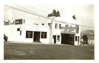 AMATEUR REAL PHOTO THEATRE, BRISBANE, CALIFORNIA, RPPC, VINTAGE POSTCARD