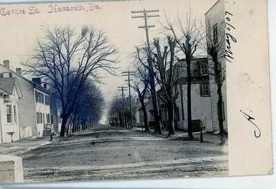 NAZARETH  PENNSYLVANIA  REAL PHOTO POSTCARD EAST CENTRE ST 1906