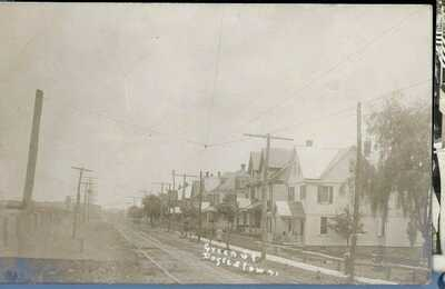 DOYLESTOWN PA REAL PHOTO POSTCARD   BUCKS COUNTY c1908 GREEN STREET