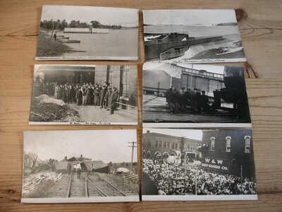19 old Horton Kansas RPPC Real Photos ** J. Bourquin ** CARNIVAL Street Scenes +