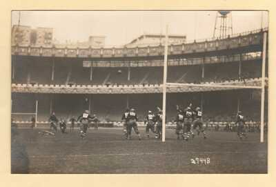 Polo Grounds Football Stadium New York, NY Cornell v. Brown 1914 RPPC