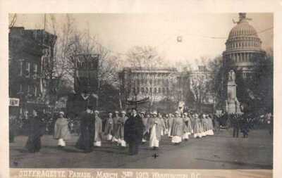Washington DC Suffragette Parade American Nurses Real Photo Postcard AA20292