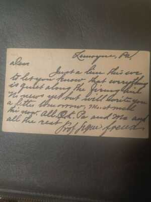 Postcard Written And Signed By Sigmund Freud