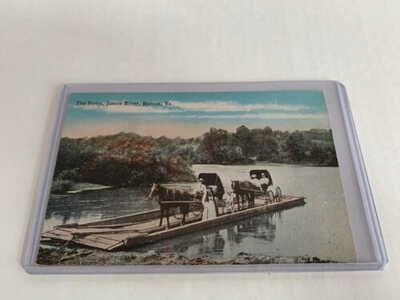W. E. Burgess Postcard The Ferry James River Hatton VA