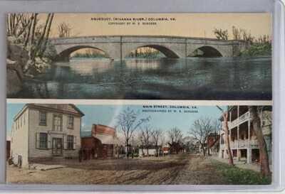 W. E. Burgess Postcard Aqueduct Rivanna River Columbia Va