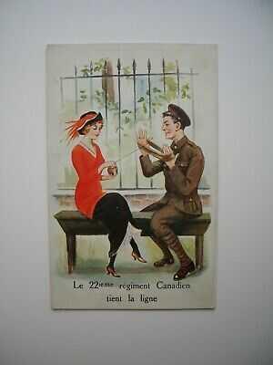 Postcard WWI / CEF «Le 22e Regiment Tient la Ligne» 1915 Vandoos R22R Canada