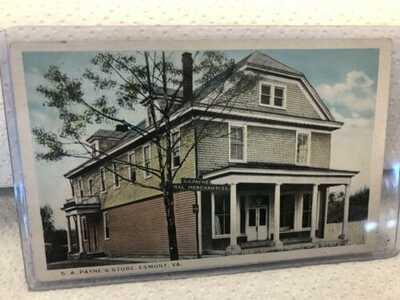 W. E. Burgess Post Card  S.A. Payne's Store Esmont Va