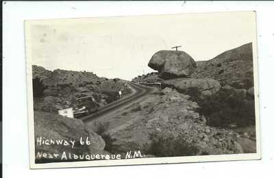 Real Photo Postcard Post Card Albuquerque New Mexico NM N M Route Rt 66