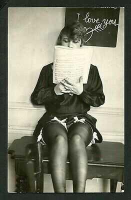 French 1920s YVA RICHARD Photo NATIVA Reading SHEET MUSIC ~ VASTA Archives