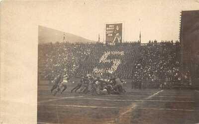 Stanford University California c1910 RPPC Real Photo Postcard Football Stadium