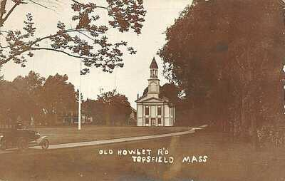 RPPC: Topsfield, MA: Old Howlet Road Near Common, early 1900s
