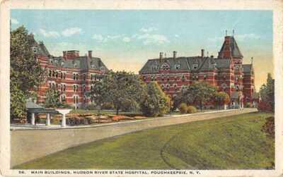 Poughkeepsie New York Hudson River State Hospital Vintage Postcard AA31388