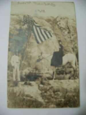 "August 8, 1911 Oklahoma Postcard Photo~RPPC ""Saddle Mc Mission Babtistry"" NO.98"