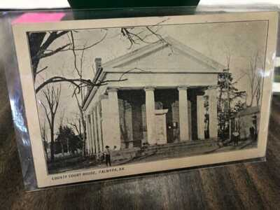 Old Virginia Postcard Of The Courthouse In Palmyra Virginia Postmarked 1909