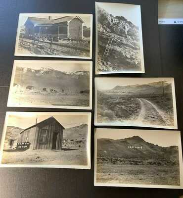 Real Photos, Mad & Bottle House, Busch Peak, early camp, Rhyolite Nevada NV 1909