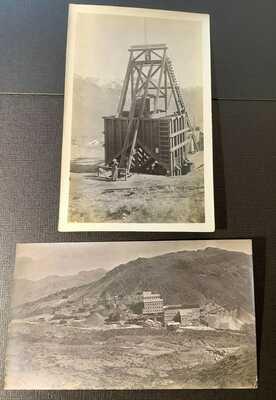 Real Photos, Gold Bar Mine, Industrial Mine, RR tracks, Rhyolite Nevada, NV 1909