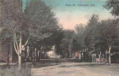 Ellendale Delaware Main Street Vintage Postcard AA43722