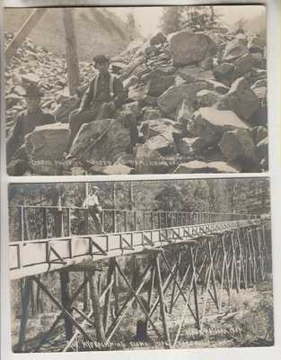 7 CIRCA 1909 RPPCs - RELATED TO THE CONSTUCTION OF A DAM AT CONCONULLY WA.