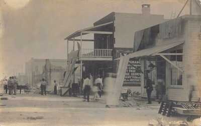 FL 1917 REAL PHOTO RARE! Florida Great Fire at St. Cloud, FLA - Osceola County