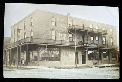Dexter, Mo RPPC New St. Francis Hotel Missouri Street Scene Postcard
