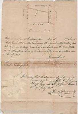 Colonial Pennsylvania Northampton County Land Survey Document James Scull 1768