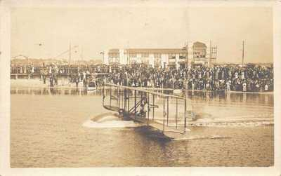 FL 1914 RARE! REAL PHOTO FLORIDA AVIATION FIRST FLIGHT St Petersburg - Tampa FLA