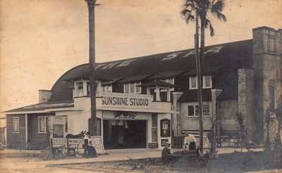 FL 1900's RARE! Florida REAL PHOTO Sunshine Studio & The Spa St Petersburg Fla