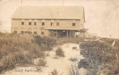 FL 1911 RARE! REAL PHOTO Florida Hotel & School at Captiva Island, FLA - Sanibel