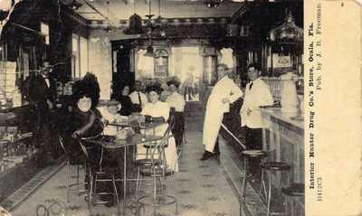 FL 1908 Florida Interior Hunter Drug Store & Soda Shop Ocala FLA - Marion County