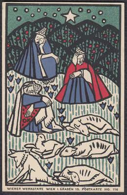 Oskar Kokoschka Wiener Werkstatte original postcard 116 lithograph signed