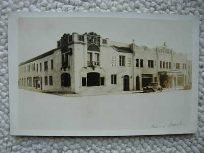 RPPC-PISMO BEACH CA-CAL-THEATRE-ART DECO-CALIFORNIA-REAL PHOTO