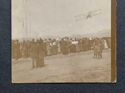 1911 BOISE ID AIRPLANE RPPC FLIGHT WALTER BROOKINS AVIATION PHOTO POSTCARD STAMP