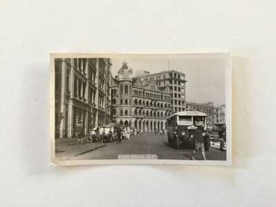 Vintage Praya Central RPPC Hong Kong Vulcan Street Scene Postcard