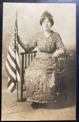 Mint USA Real Picture Postcard American Viola Wilson Portrait