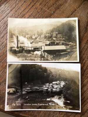 Evenwood WV Randolph county West Virginia two rare post cards Wow!!!