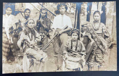 Mint USA Real Picture Postcard Davas Philippines Natives Indians With Guns