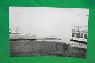 RPPC Ferry Keyport NJ 1950 City of NY divided unposted